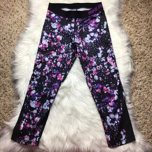Nike PRO Dry Fit leggings crop Black and Purple